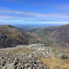 Looking down the Nant Ffrancon valley
