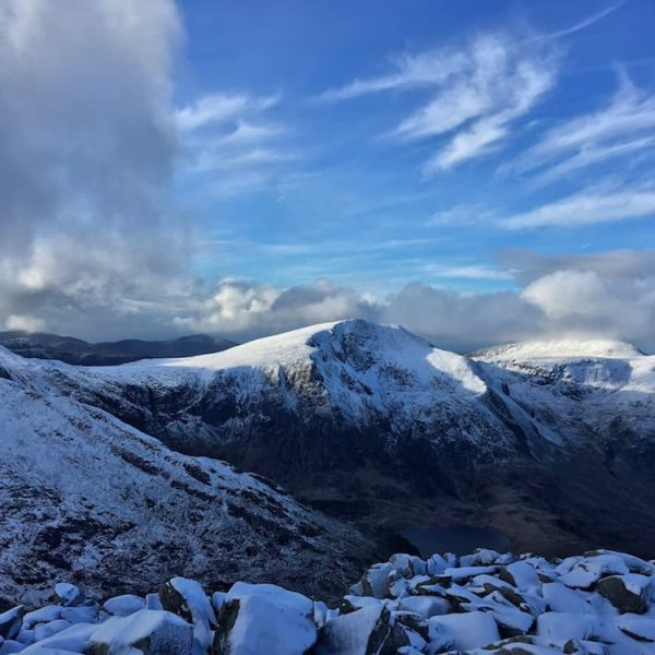 Winter conditions in Ogwen Valley