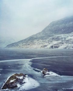Llyn Ogwen in full winter conditions