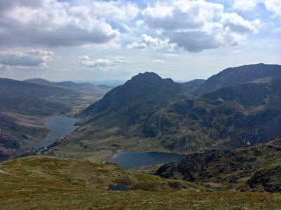 Ogwen valley from Y Garn