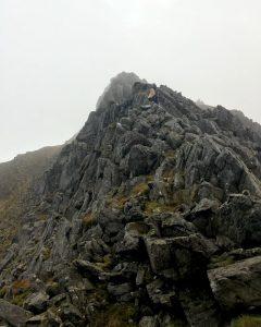 Sian on Y Gribin ridge