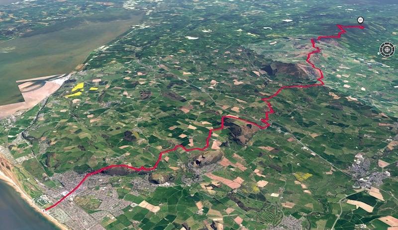 Offas Dyke - Prestatyn to Moel Famau 3D Map