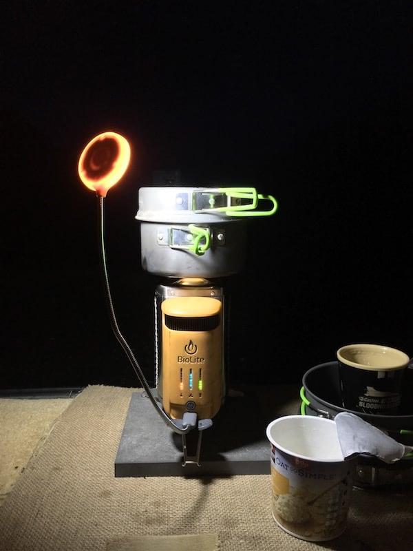 Biolite Campstove USB light | thefrozendivide