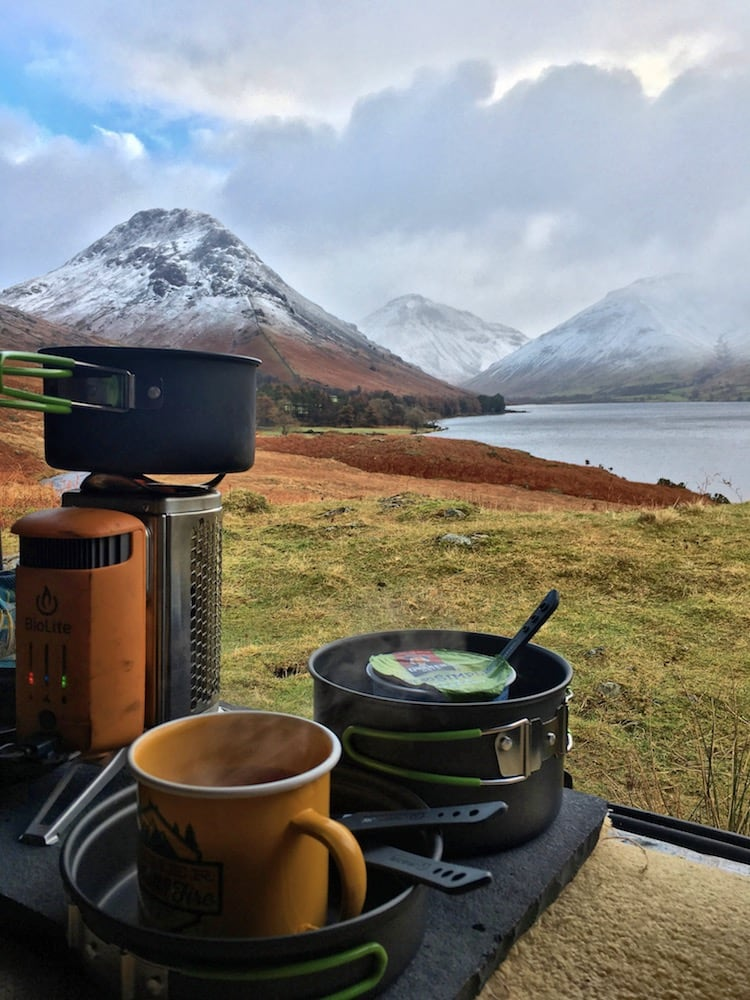 Biolite Campstove at Wastwater | The Frozen Divide