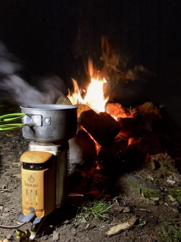 Biolite Campstove by the fire | the frozen divide