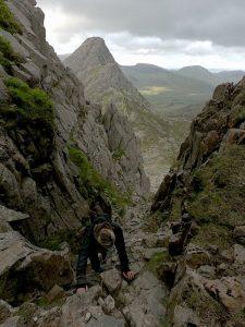 Sian on Bristly Ridge
