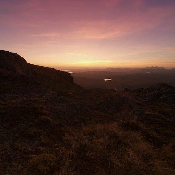 Arenig Fawr Pink Sunset   The Frozen Divide