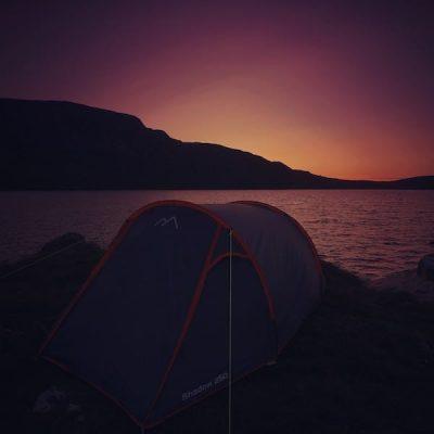 Post sunset camping at Llyn Arenig