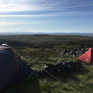 Camping next to Llyn Arenig
