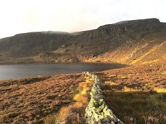 Golden hour at Llyn Arenig