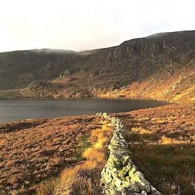 Golden hour at Llyn Arenig