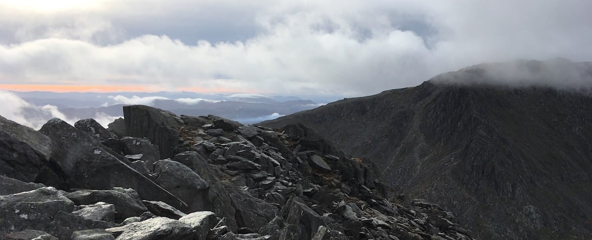 Looking south towards Bristly Ridge