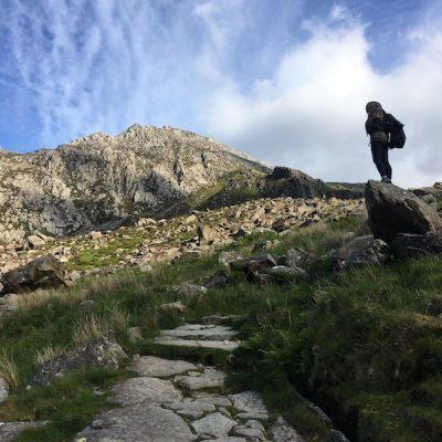 Path from Llyn Ogwen up towards Llyn Bochwlyd