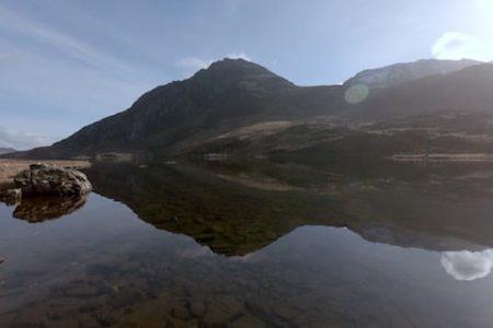 Tryfan reflected in Bochlwyd