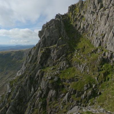 Tryfan summit from the North Buttress