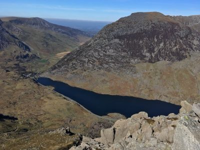 Summit view of the Ogwen Valley