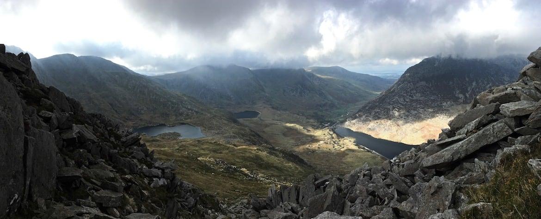 Panoramic summit shot