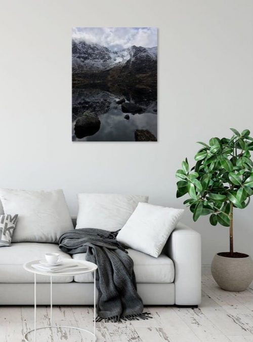 Mountain Reflections Canvas Print Interior Setting