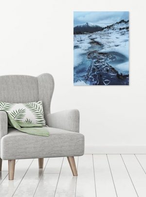 Mountain Snow Canvas Print Interior Setting