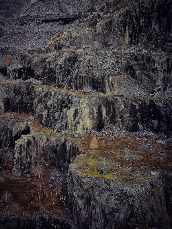 Dinorwic Quarry Layers of Slate | The Frozen Divide
