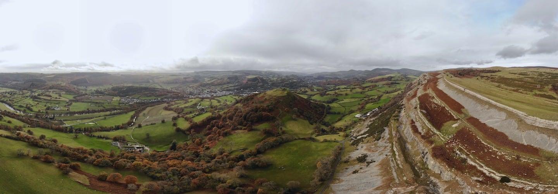 Llangollen & Dinas Bran Castle from above | The Frozen Divide