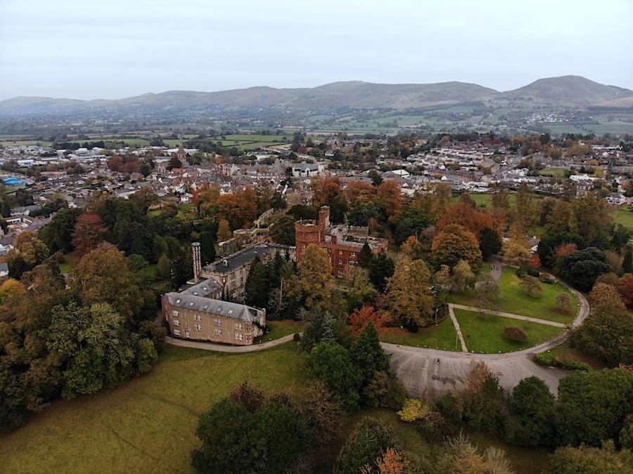 Ruthin Castle taken on DJI Mavic Air
