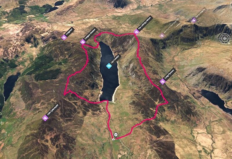 Llyn Cowlyd Summit Loop 3D Map | The Frozen Divide