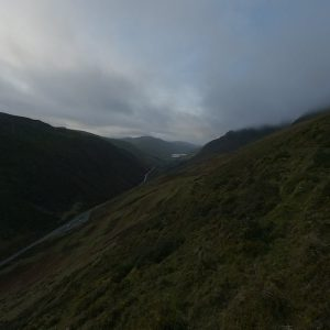 Top of Bwlch Llyn Bach pass