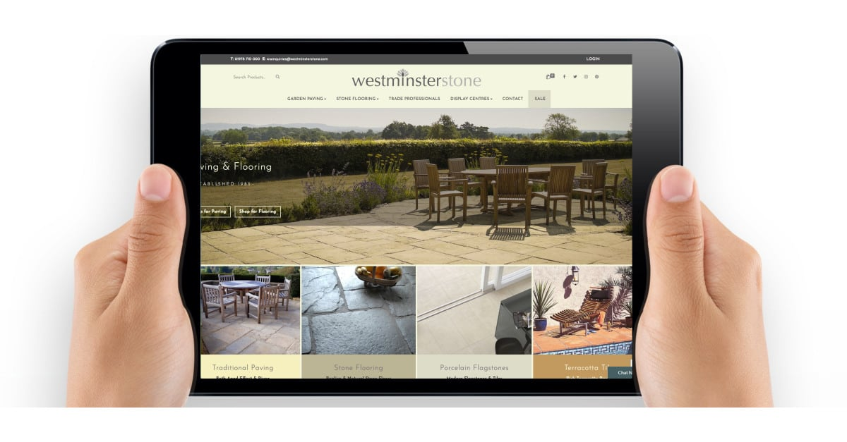 Westminster Stone Website Design by The Frozen Divide Ltd